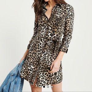 Cheetah Print Shirt Dress